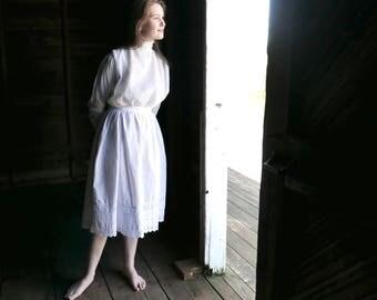 White Cotton Half Slip Petticoat XS - S