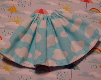 Blythe / DAL Skirt - A Cloudy Blue Sky