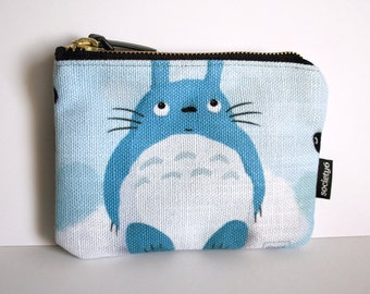Totoro fanart - Illustrated pouch - 6x5 inches