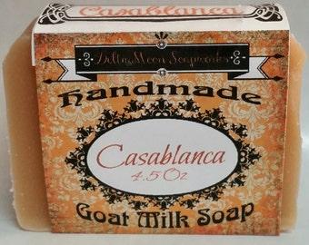 Handmade Lavender Tea Tree Orange with Pink Kaolin Clay Goat Milk Soap,  Goat Milk Soap, Shaving Soap,sensitive skin, complexion soap
