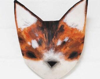 GINER TABBY CAT - Paper Mâché Animal Head