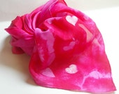 Valentine Hearts Playsilk : All My Heart  (Hand Dyed Motif™ Playsilk, You Choose Size)