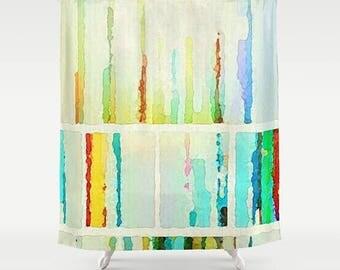 Shower Curtain, Watercolor Bathroom, Art Shower Curtain, Watercolor Shower, Bathroom Shower, Modern Bath, Watercolor Art, Modern Bathroom