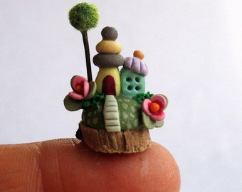 Miniature  Fairy House Colony OOAK by C. Rohal