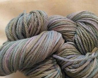 AVALON FOG Handpainted Pima Cotton Wool Yarn 180yds 2.9 oz Worsted Weight Hand Painted Aspenmoonarts knitting