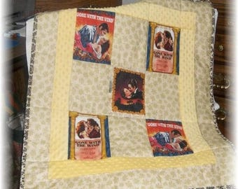 1 Gone With The Wind Fabric Patchwork Quilt