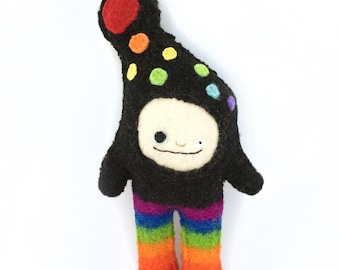 Rainbow Strange Foo - Recycled Cashmere Plush Toy