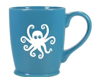 Octopus Mug - nautical coffee cup - Choose Your Color