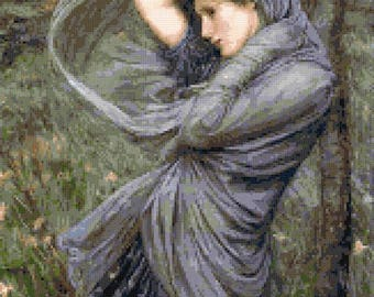 Boreas by Waterhouse (v2) counted cross stitch kit