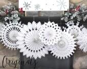 Set of 7 Paper Snowflakes