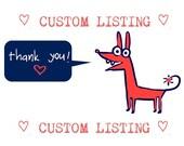 Custom Listing for  growingdaisies
