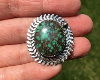 JUMA Jewelry -  Hubei Turquoise with leaves wreath Ring - From My Bench