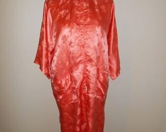 Vintage Beautiful SILK Asian robe kimono            womens women clothing clothes