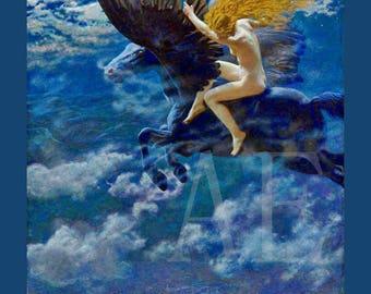 PR-092 Artistic Ephemera Print ~ One 8x10 or Two 5x7s ~ Edward Robert Hughes ~ Dream Idyll or A Valkyrie