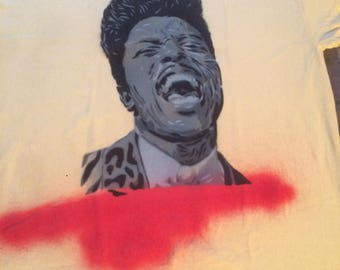 Little Richard spray painted shirt