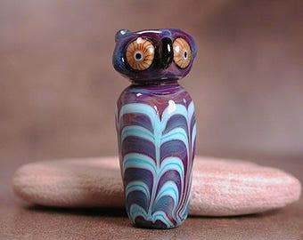Lampwork Focal Bead Owl Animal Totem Divine Spark Designs SRA