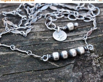 20% OFF TODAY Sterling silver beaded minimalist necklace