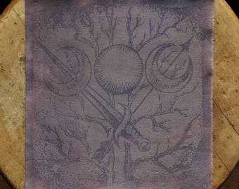 """Mystic Sister - 9x9 1/2"""" Solar Printed Sew-On Art Patch"""