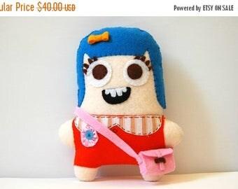 35% SALE Chloe The Eco Friendly Plush Doll / Stuffed Toy