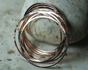 Rose gold tone circular link O ring connector 40mm outer diameter, 4 pcs (item ID FA00017RG)