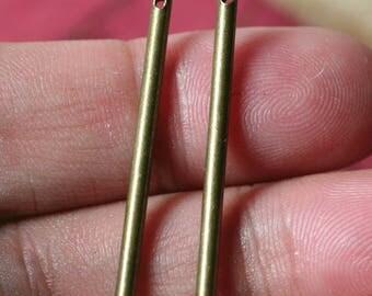 Antique brass stick dangle 30mm long 2mm thick, 8 pcs (item ID YS226-DAB)