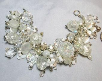 Chunky Crystal White Bracelet