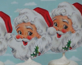 Vintage SANTA Cupcake Toppers Finished and Mailed To You! CHRISTMAS CUPCAKES
