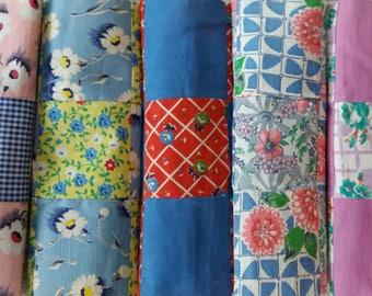 Five Vintage Quilt Blocks