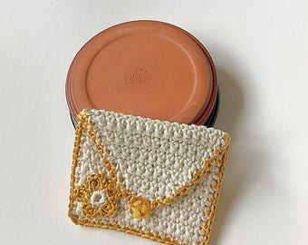 Gold purse  - for cards, money, mp3, store cards, makeup, coins