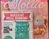 Mollie Makes Magazine - Be Mine, Valentine - Issue 75 - With Macrame Wall Hanging - 11.00 Dollars