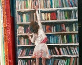 "The Used Bookstore"", 5 x 7"" painting on canvas board"
