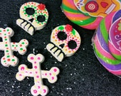 Sugar Skull Hair Clips