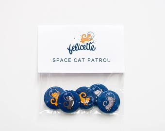 Space Cat Patrol Button Set
