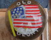 Antique Paperweight Old Glory American Flag