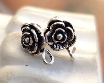Vintage 925 Silver Earring Finding Stud
