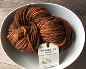 SALE Malabrigo Chunky yarn Roanoke (50) Brown Amber Chestnut yarn. Soft Merino wool.