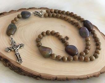 Calvary Wood Rosary