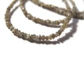 Cyber Monday SALE - Light Brown Rough Diamond Beads, Natural Raw Diamond Beads, Conflict Free, 16 Inch Strand for Jewelry Making (S-Di7)