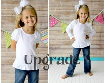 Upgrade any shirt listing to a Ruffle Shirt Short Sleeve Ruffle Shirt or Long Sleeve Ruffle Shirt - Size chart in photos