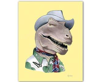 T-Rex Dinosaur print 8x10