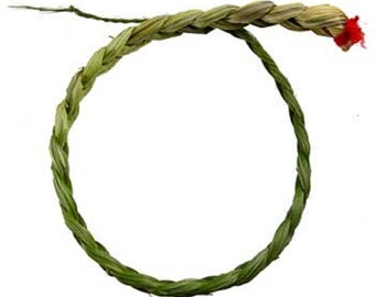 """Sweetgrass Braid 18"""" wiccan rituals,wiccan herbs, smudge herbs, smudge sticks, black sage smudge,"""