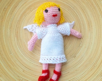 Amigurumi Little Angel with red shoes