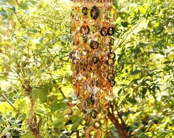 Anneaux D'automne - Unique Wind Chimes - Suncatcher - OOAK Gift For Her, Anniversary, Birthday, Wedding, Housewarming,