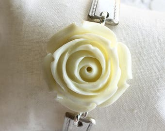 Ivory Rose Spoon Handle Bracelet