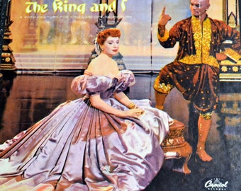 Vintage Music Album The King and I  Yul Brynner and Deborah Kerr 45 records