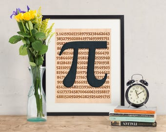 The Value of Pi - Wood Art