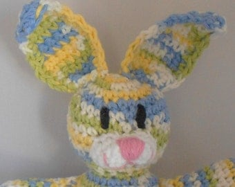 Amigurumi Easter Bunny - Crochet Easter Bunny -Bunny Rabbit Plushie -Stuffed Bunny Rabbit Toy -Plush Bunny Rabbit - Yellow Blue Green Bunny