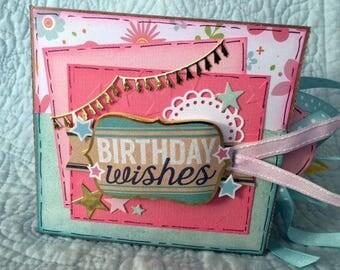 Birthday Scrapbook - Happy Birthday Scrapbook - Birthday Paper Bag Album