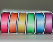 Polymer Clay Rainbow Stripe Rectangle Cane -'Intricacies of the Heart' (4ee)