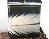 White feather shoulder bag handbag pouch black and white feather zipper clutch purse